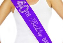 40th Birthday Party / 40th Birthday Party Ideas from Rhinestone Sash, Get Ready for the Fab 40!