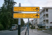 Directional signage / Directional signage - street signage with Hotels information.