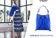 Marla Fiji -  Bondi Blue bucket  bag- Italian leather bag
