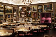 Berners Tavern at The London EDITION / Oso Industries fabricated the concrete tabletops for Jason Atherton's restaurant on the ground floor of the fashion-focused London Edition Hotel.
