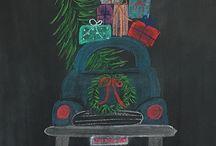Chalk broad art
