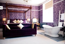 Favorite Places & Spaces / Here is one of my favourite interiors at Plas Rhianfa in Anglesey! Those beautiful, plush, purple velvet's say luxury all over don't you think...