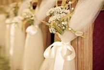 Pew Decoratations / Ideas for decorating pews at the wedding ceremony