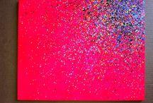 canvas met confetti