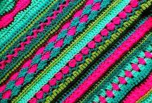 Haken: allerlei steken / Verschillende mooie steken voor mijn eigen strependeken....