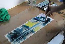 scuola di disegno: acquerello video e trick