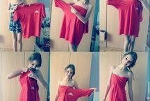 Kleid aus T - Shirt