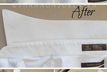 Removing brown stains on collars