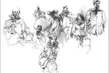 Illustration . Sketches