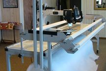 Long arm quilting machines