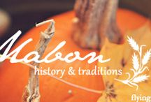 Mabon / September 20th, 21st, 22nd: A seasonal celebration of equal night and day marking the beginning of fall. This is the second harvest festival celebrating abundance.