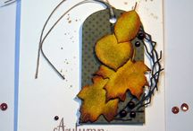 Fall o ween  cards/crafts / fall and Halloween cards