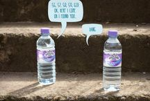 If bottles could chat... / It would probably sound a little something like this.