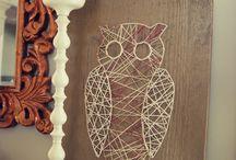 Crafty Ideas: String Art / Craft ideas for string art, DIY, decor, tips, tricks, tutorials, & more!