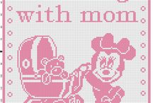 Disney filet crochet baby blankets free download / Disney filet crochet baby blankets free patterns download, Mickey Mouse, Minnie Mouse, Daisy Duck, Donald Duck, Baby Disney...