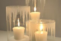 Winter decorations candles
