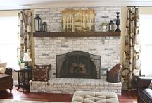 Painted Fireplace Surrounds
