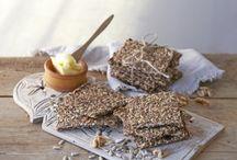 Brødmat, knekkebrød ol / Gode tips til glutenfri og sunn bakst i ulike former