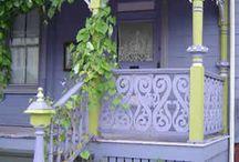 architecture, porches