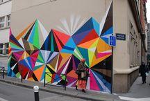 gatekunst bygninger