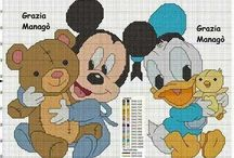 Punto croce Disney paperino