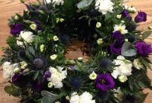Flowers, bouquets, wreaths and arrangements