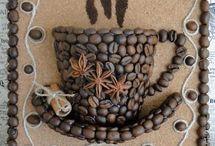 dekorace a obrázky z kávy