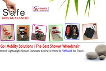 GMS! Commode Shower Chairs for Home & Travel.