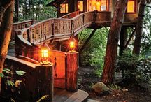 Awsome tree huts and playhouses