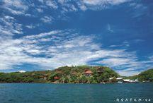 Roatán Česká vesnice / Česká vesnice na ostrově Roatán v Karibiku