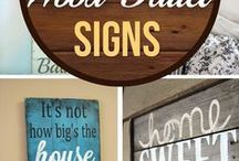 rustic wood pallet signs