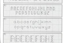 Back stitch letters