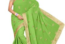 Stylish Evergreen Green Color Designer Sarees / Beautiful Green Color Designer Sarees - luxyee.com