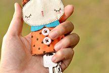 šité drobnosti a hračky / ozdůbky