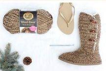háčkovaná obuv