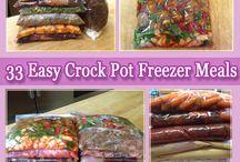 Crockpot freezer meals / by Fiona Brown