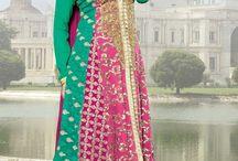 Ethnic Salwar Kameez / Latest Anarkali Suits with embroidery