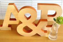 Letter sculptures