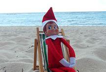 Elf on the Shelf at the Beach