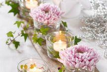 Blomster og dekorasjoner