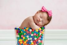 Posing newborn