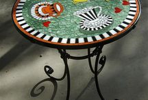 Mosaic coffe table