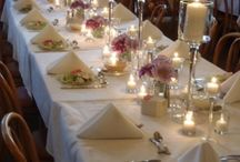 Fabulous Wedding Clients! / Pictures of actual events and how client used are centerpieces, votives & accessories to create their unique event