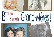 Bonne fête à toutes les grand-mères ! / Le 6 mars c'est la fête des grand-mères, alors bonne fête à toutes les mamies, les mémés, les mamounettes...