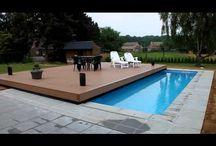 terrasse mobile sur piscine
