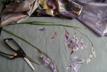 Artwork in Progress / As a textile collage artist there are many processes to the creation of each piece of art.