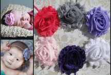 Baby Girl's bows and bands! / by Renee Carter