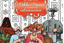 dikkedames kleurboeken van Julia Woning