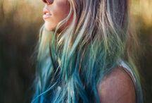 Teinture bleu