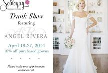 Trunk Show Posters / Collection of our Trunk show announces used online and in social media / by Soliloquy Bridal Couture